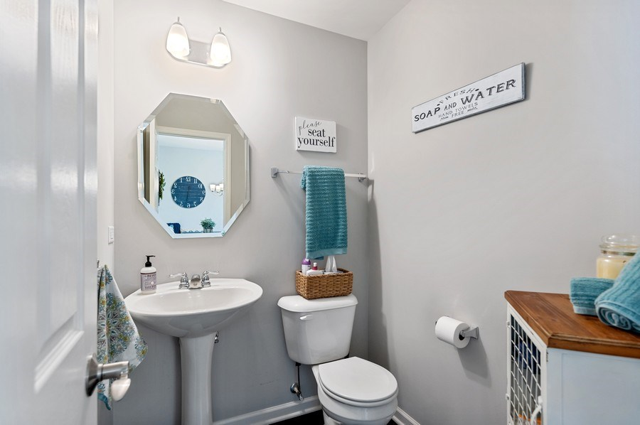 Real Estate Photography - 253 Lionel Dr, Grayslake, IL, 60030 - Powder Room