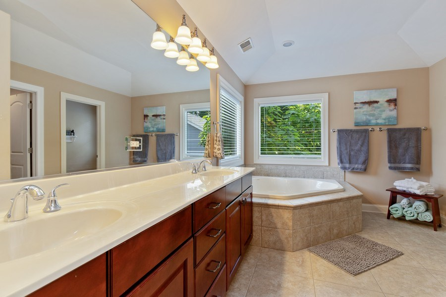 Real Estate Photography - 21391 W Willow Road, Lake Zurich, IL, 60047 - Master Bathroom