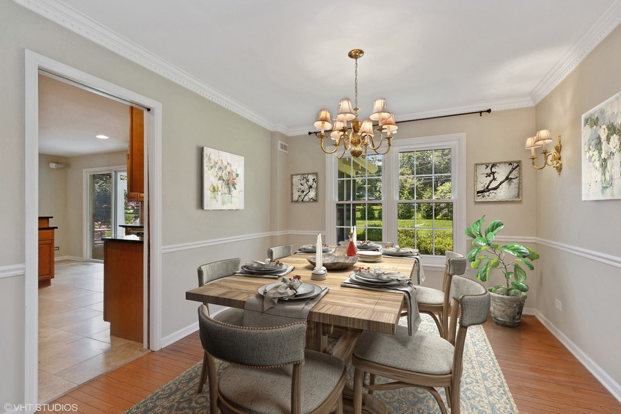 Real Estate Photography - 120 S Deerpath Rd, Barrington, IL, 60010 - Dining Room