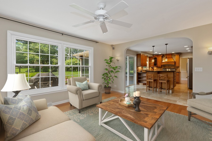 Real Estate Photography - 120 S Deerpath Rd, Barrington, IL, 60010 - Family Room