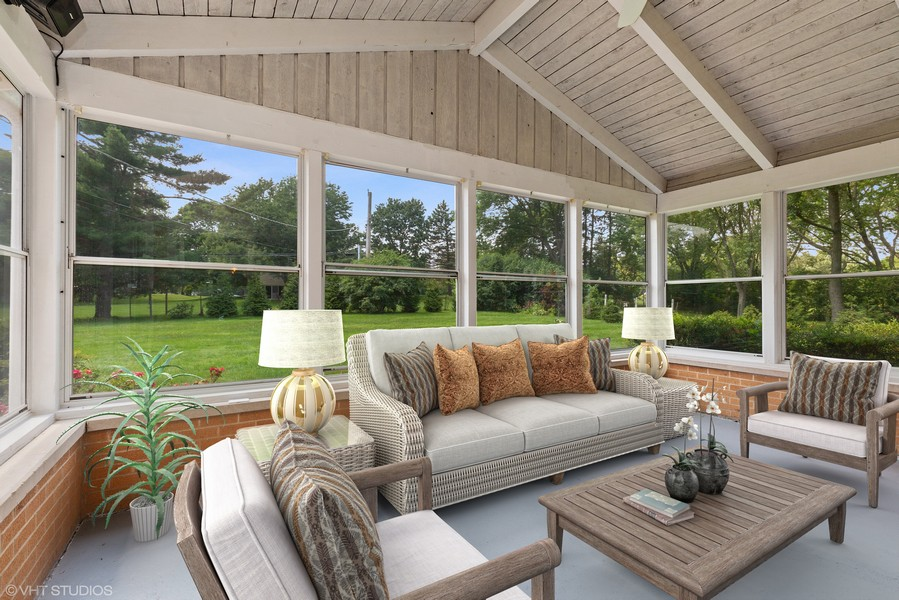 Real Estate Photography - 120 S Deerpath Rd, Barrington, IL, 60010 - Screened Porch