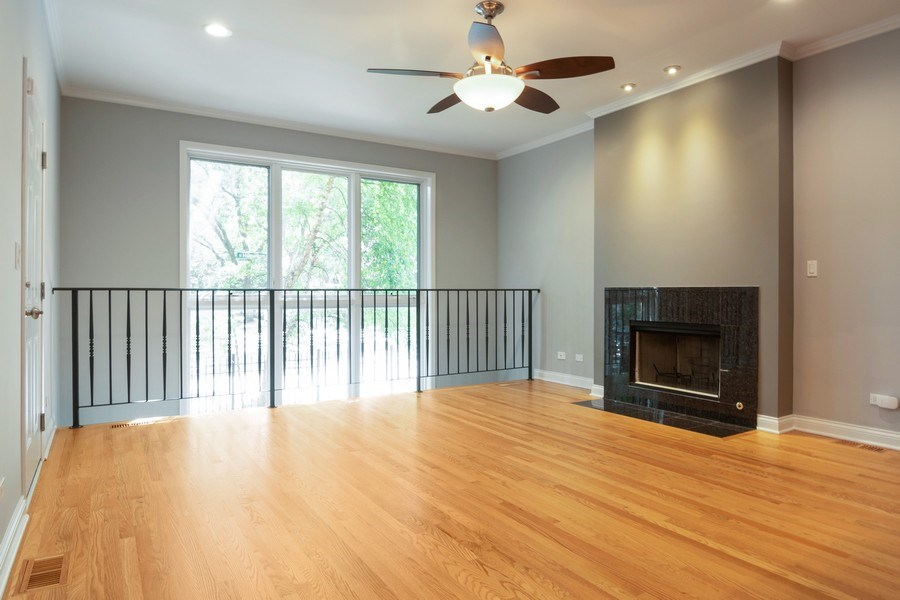 Real Estate Photography - 7300 N Hamilton 1S, Chicago, IL, 60645 - Living Room