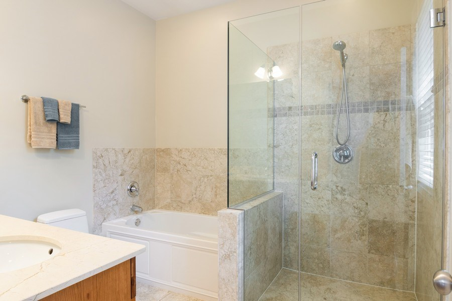 Real Estate Photography - 7300 N Hamilton 1S, Chicago, IL, 60645 - Master Bathroom