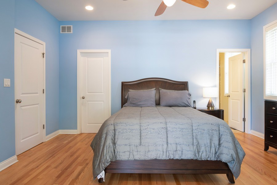 Real Estate Photography - 7300 N Hamilton 1S, Chicago, IL, 60645 - Master Bedroom