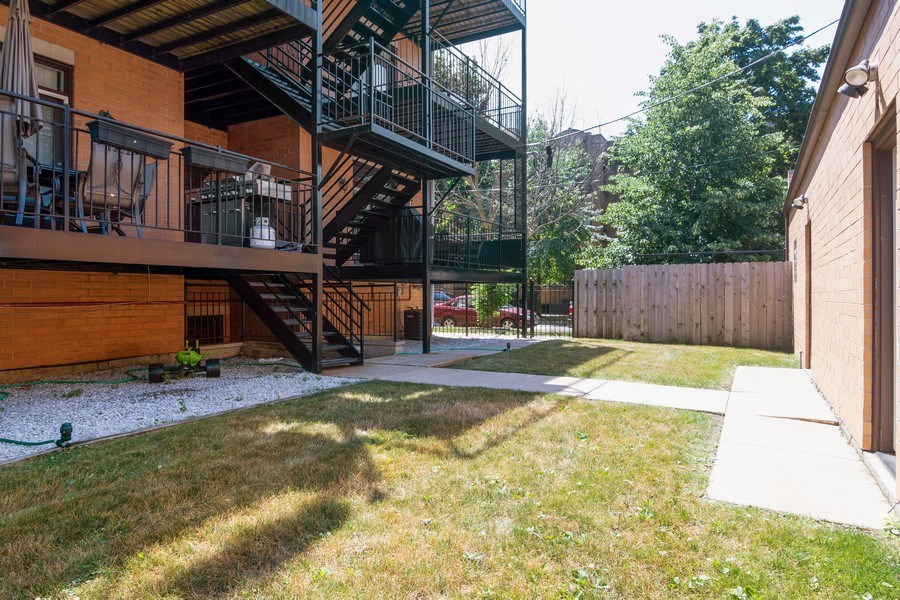 Real Estate Photography - 7300 N Hamilton 1S, Chicago, IL, 60645 - Back Yard