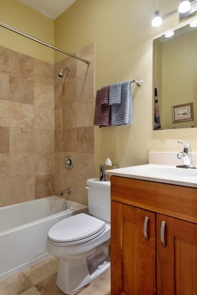 Real Estate Photography - 7300 N Hamilton 1S, Chicago, IL, 60645 - 2nd Bathroom