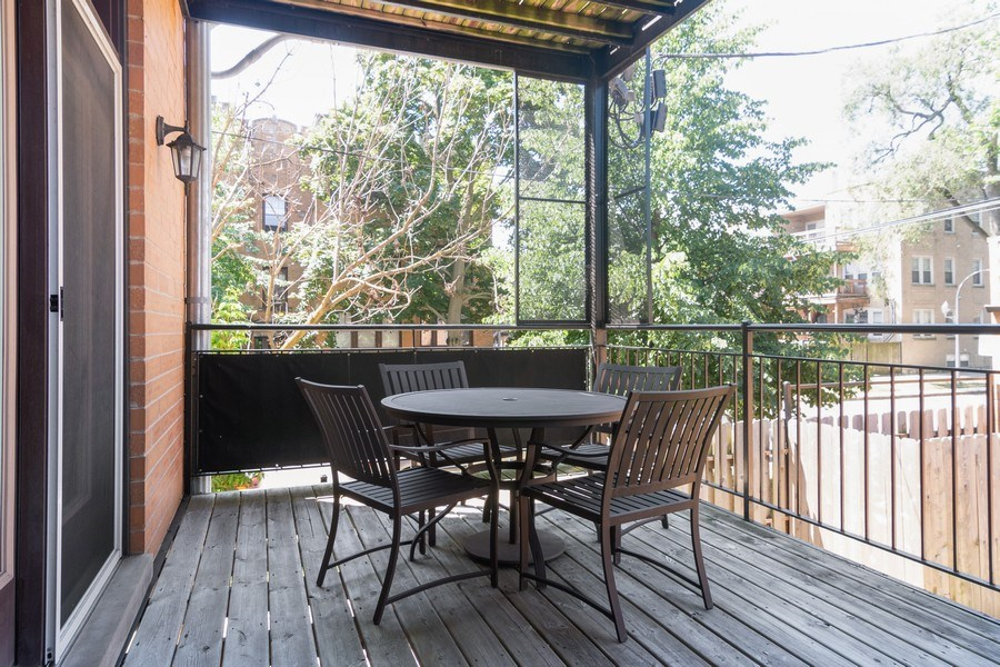 Real Estate Photography - 7300 N Hamilton 1S, Chicago, IL, 60645 - Deck