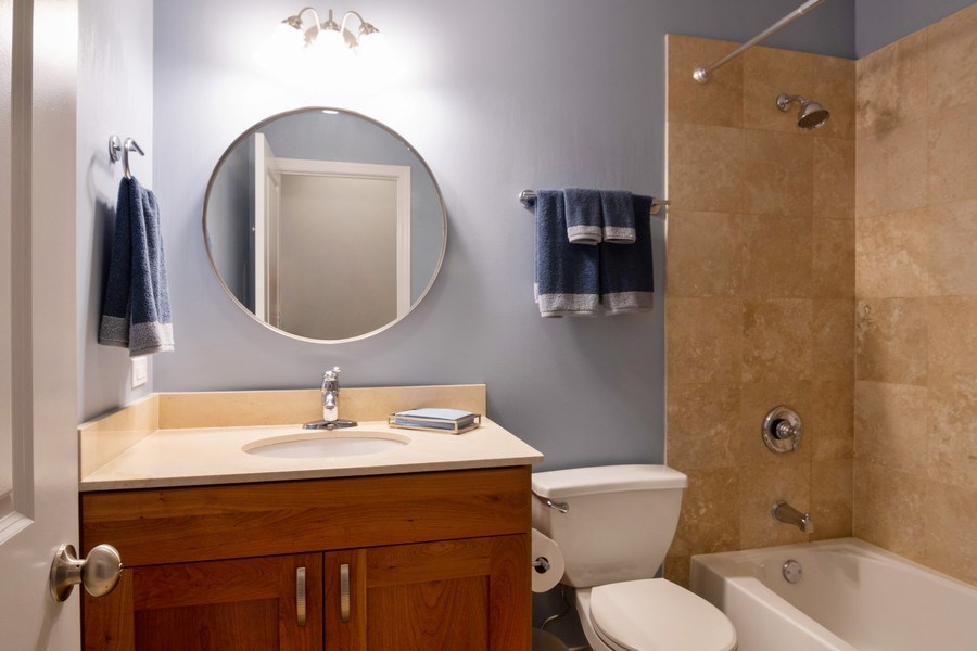 Real Estate Photography - 7300 N Hamilton 1S, Chicago, IL, 60645 - 3rd Bathroom