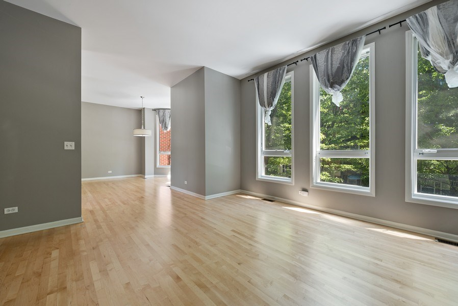 Real Estate Photography - 1222 N Orleans Court, Chicago, IL, 60610 - Living Room / Dining Room