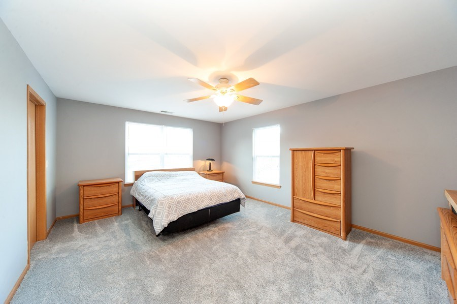 Real Estate Photography - 649 Shakespeare Drive, Grayslake, IL, 60030 - Master Bedroom