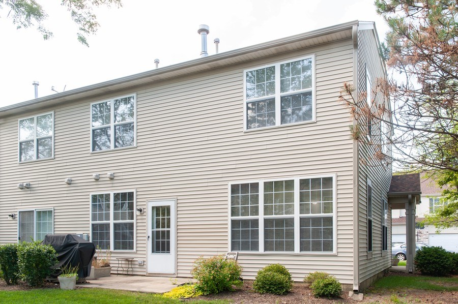 Real Estate Photography - 649 Shakespeare Drive, Grayslake, IL, 60030 - Rear View