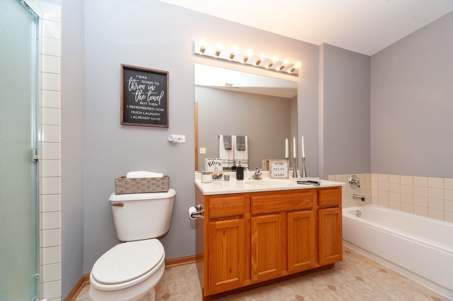 Real Estate Photography - 649 Shakespeare Drive, Grayslake, IL, 60030 - Bathroom