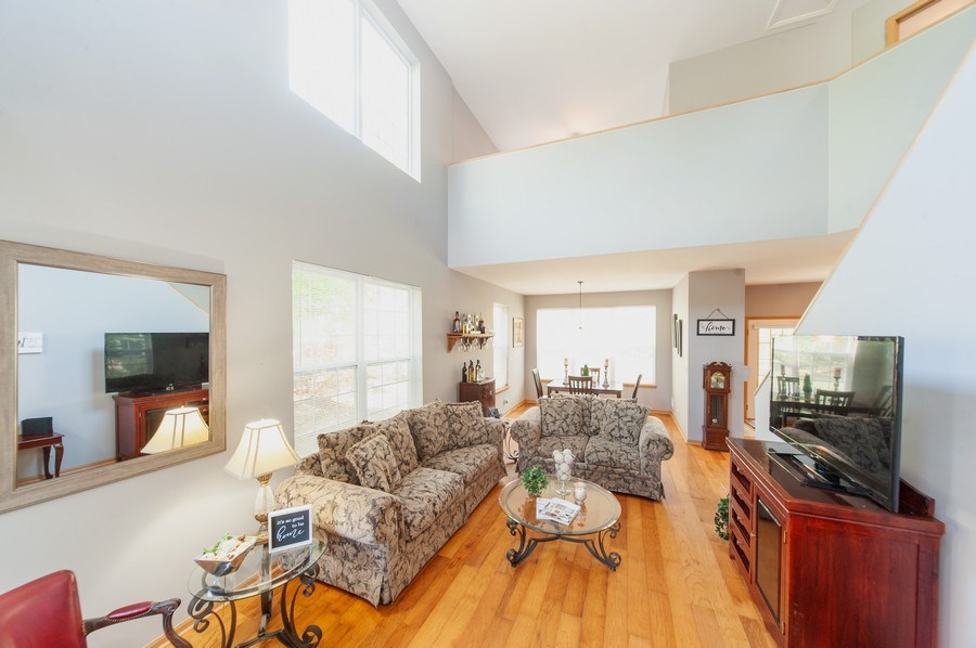 Real Estate Photography - 649 Shakespeare Drive, Grayslake, IL, 60030 - Living Room / Dining Room