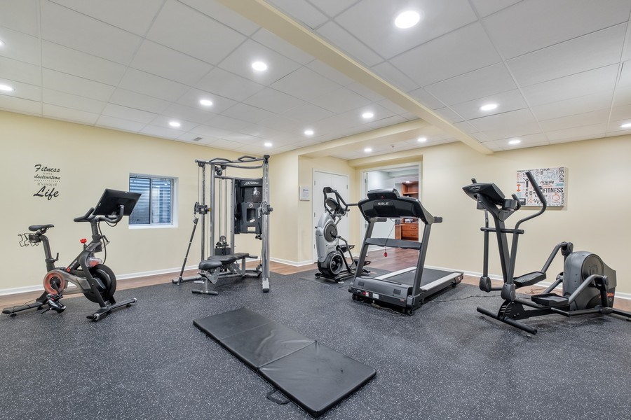 Real Estate Photography - 3 Broadleys Ct, Bannockburn, IL, 60015 - Exercise Room