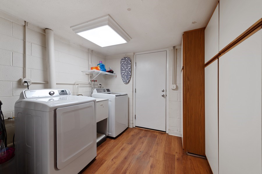 Real Estate Photography - 162 Chatham Unit B, Bloomingdale, IL, 60108 - Laundry Room