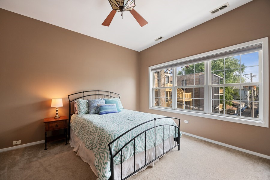 Real Estate Photography - 1047 W. Belmont, #3R, Chicago, IL, 60657 - Master Bedroom