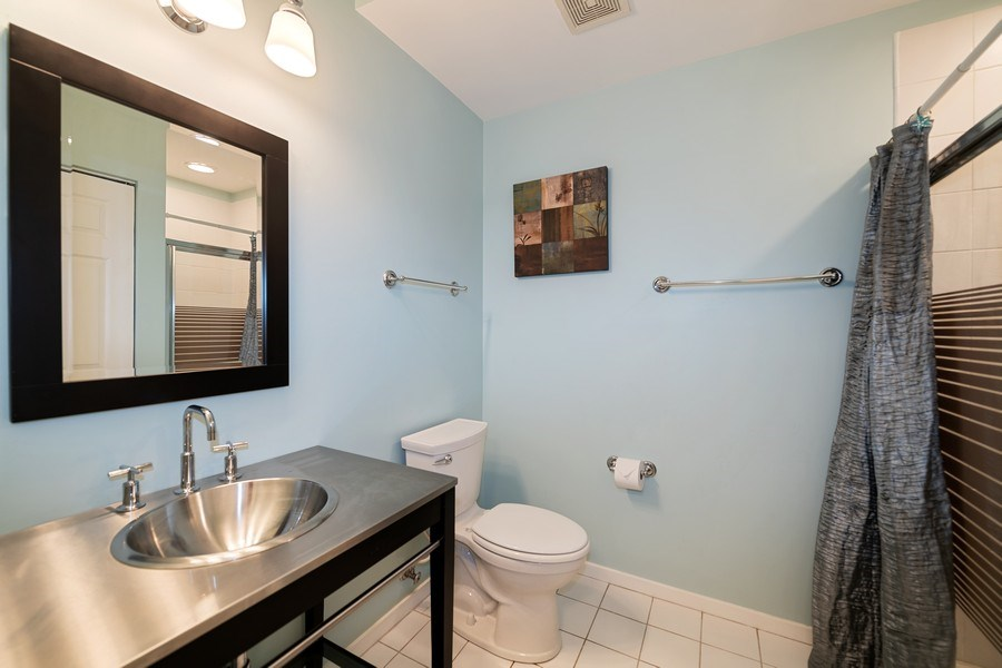 Real Estate Photography - 1047 W. Belmont, #3R, Chicago, IL, 60657 - Second Bathroom