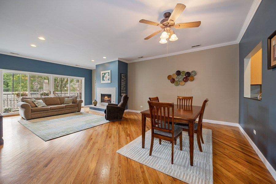 Real Estate Photography - 1047 W. Belmont, #3R, Chicago, IL, 60657 - Living Room / Dining Room