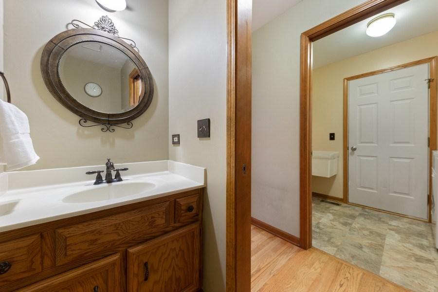 Real Estate Photography - 68 Breckenridge Dr., Aurora, IL, 60504 - Powder Room