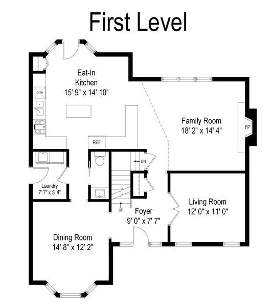 Real Estate Photography - 68 Breckenridge Dr., Aurora, IL, 60504 - Floor Plan
