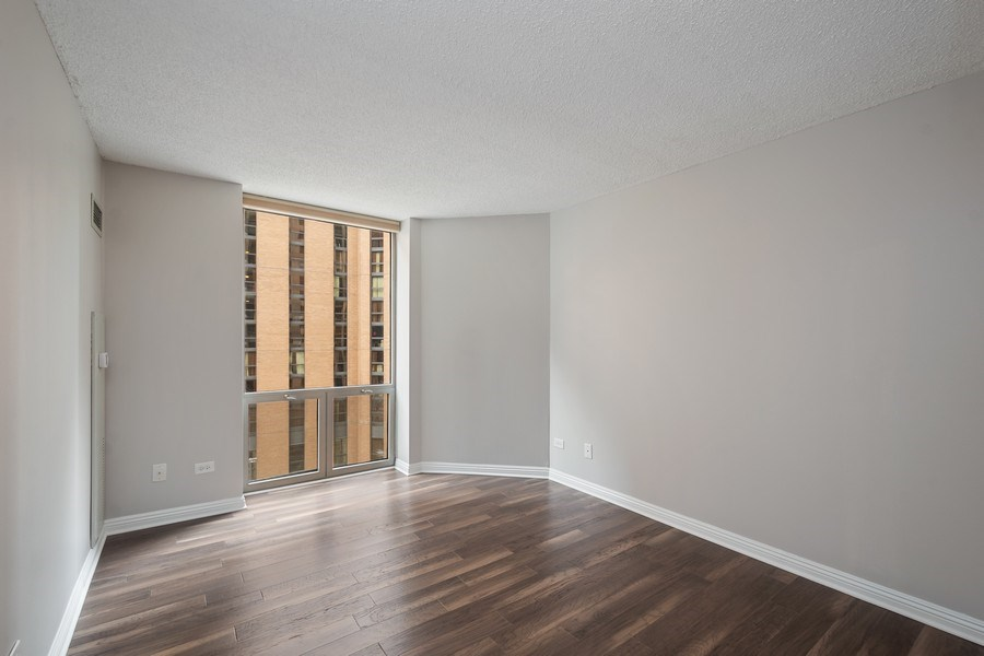 Real Estate Photography - 222 N Columbus Dr, #604, Chicago, IL, 60601 - Master Bedroom