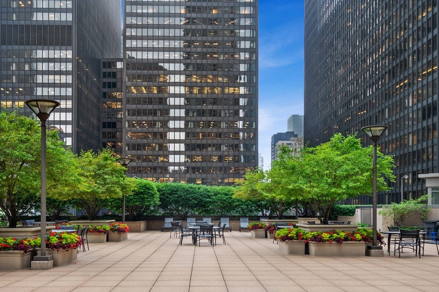 Real Estate Photography - 222 N Columbus Dr, #604, Chicago, IL, 60601 - Common Sundeck