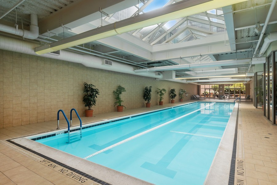 Real Estate Photography - 222 N Columbus Dr, #604, Chicago, IL, 60601 - Pool