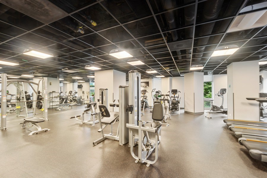 Real Estate Photography - 222 N Columbus Dr, #604, Chicago, IL, 60601 - Fitness Center