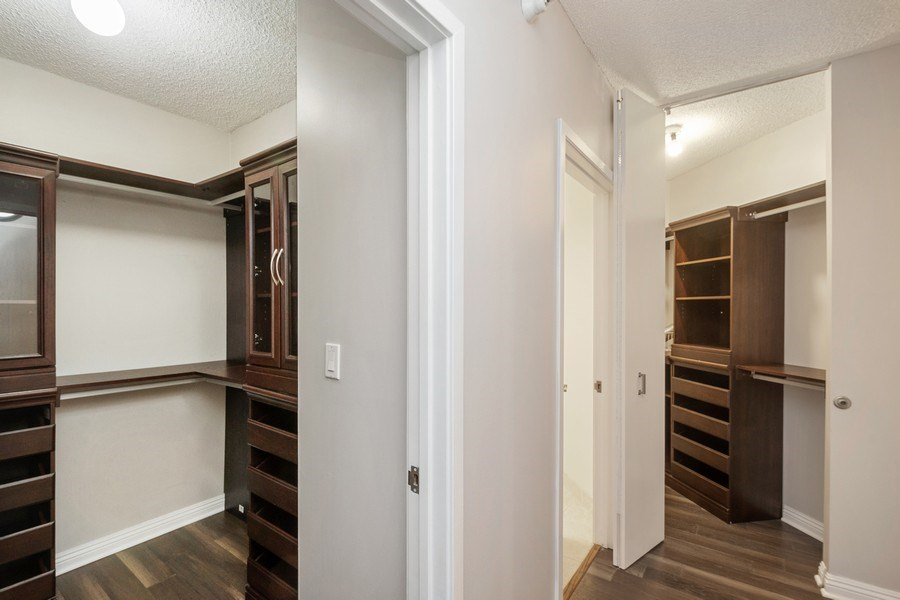 Real Estate Photography - 222 N Columbus Dr, #604, Chicago, IL, 60601 - Master Bedroom Closet