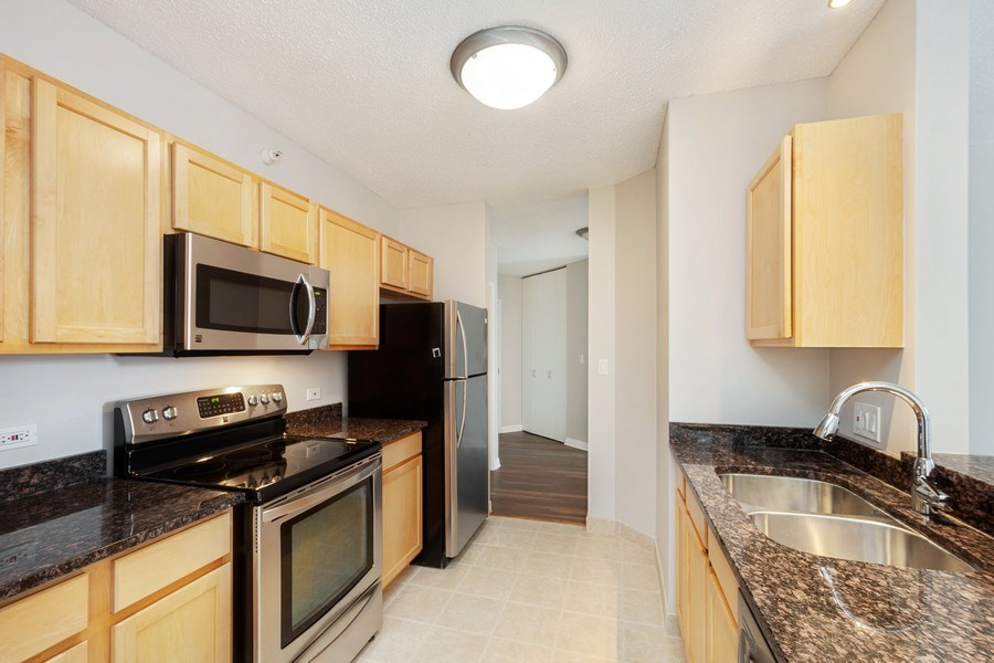 Real Estate Photography - 222 N Columbus Dr, #604, Chicago, IL, 60601 - Kitchen
