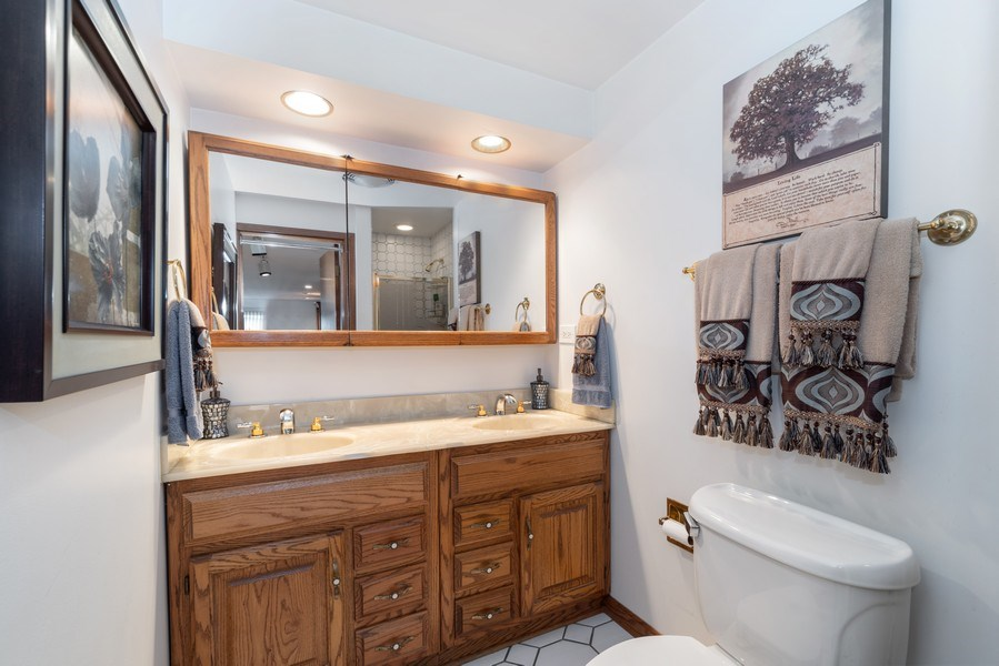 Real Estate Photography - 1205 Longmeadow, Glenview, IL, 60025 - 2nd Bathroom