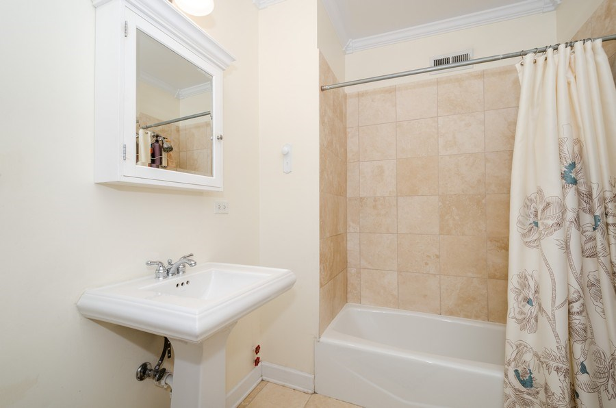 Real Estate Photography - 811 Hinman, 2E, Evanston, IL, 60202 - Master Bathroom
