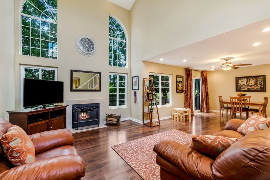 Real Estate Photography - 1243 Dunamon Drive, Bartlett, IL, 60103 - Living Room