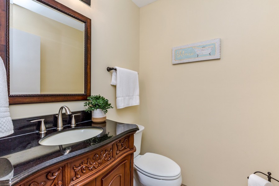 Real Estate Photography - 1243 Dunamon Drive, Bartlett, IL, 60103 - Half Bath