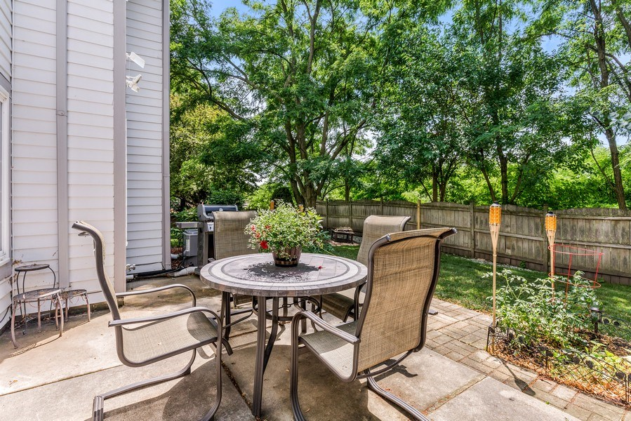 Real Estate Photography - 1243 Dunamon Drive, Bartlett, IL, 60103 - Patio