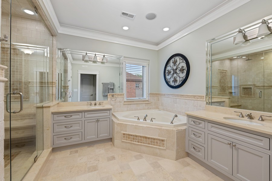 Real Estate Photography - 1822 W School St, Chicago, IL, 60657 - Master Bathroom