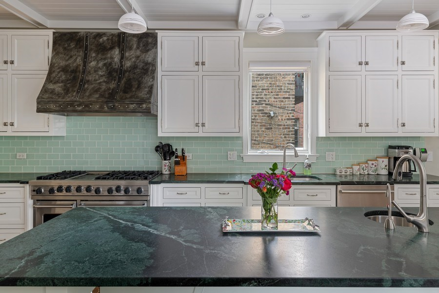 Real Estate Photography - 1822 W School St, Chicago, IL, 60657 - Kitchen