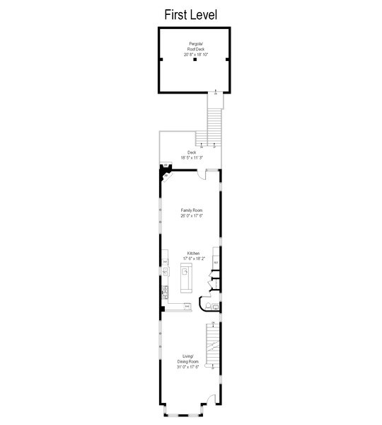 Real Estate Photography - 1822 W School St, Chicago, IL, 60657 - Floor Plan