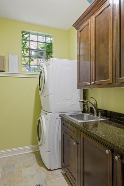 Real Estate Photography - 1822 W School St, Chicago, IL, 60657 - Laundry Room