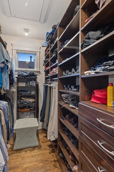 Real Estate Photography - 1822 W School St, Chicago, IL, 60657 - Master Bedroom Closet