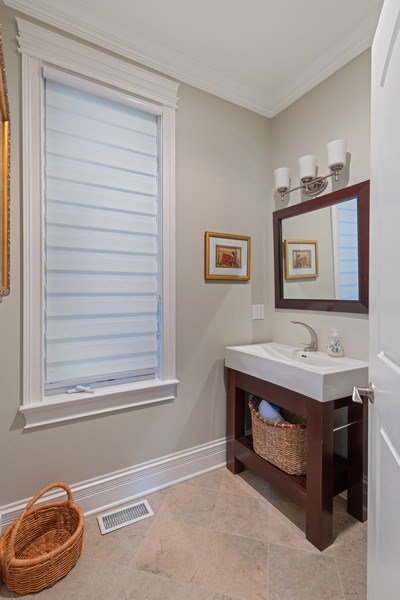 Real Estate Photography - 1822 W School St, Chicago, IL, 60657 - Powder Room