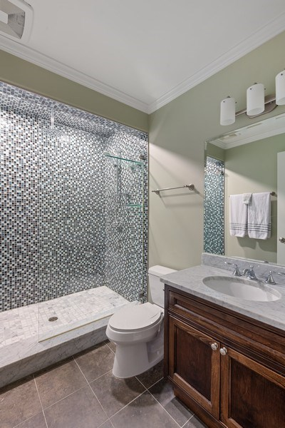 Real Estate Photography - 1822 W School St, Chicago, IL, 60657 - 3rd Bathroom