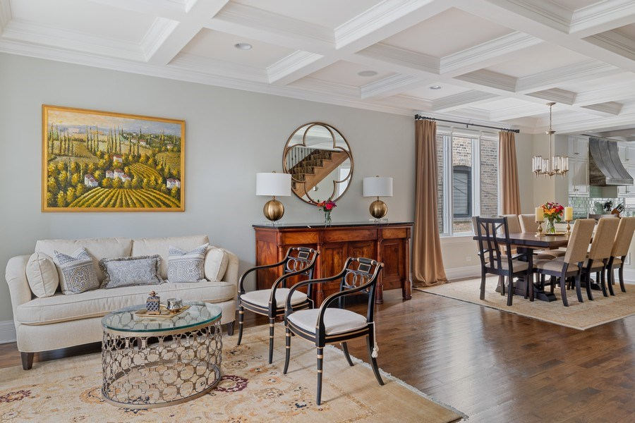 Real Estate Photography - 1822 W School St, Chicago, IL, 60657 - Living Room / Dining Room