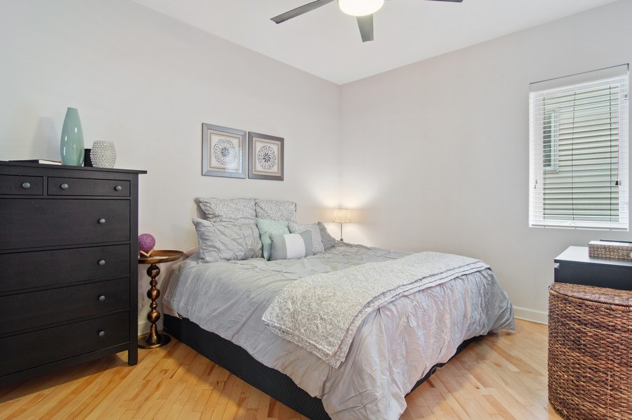 Real Estate Photography - 4039 N Kilbourn, Unit 1S, Chicago, IL, 60641 - Master Bedroom