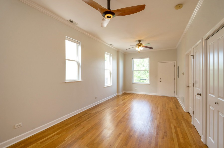 Real Estate Photography - 1312 Artesian, Unit 3R, Chicago, IL, 60622 - Living Room