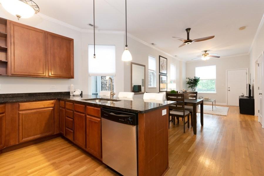 Real Estate Photography - 1312 Artesian, Unit 3R, Chicago, IL, 60622 - Kitchen
