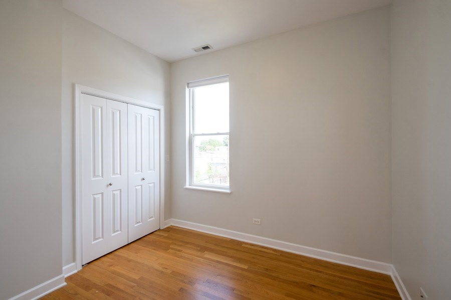 Real Estate Photography - 1312 Artesian, Unit 3R, Chicago, IL, 60622 - Bedroom