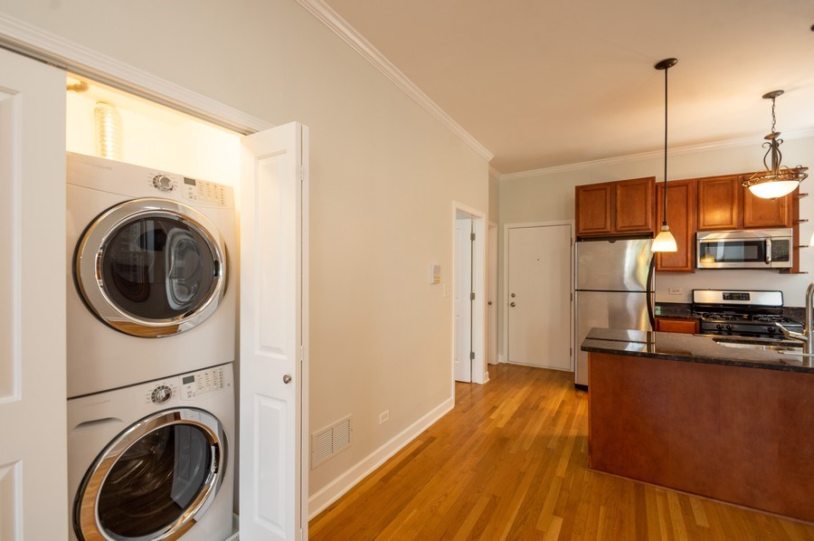 Real Estate Photography - 1312 Artesian, Unit 3R, Chicago, IL, 60622 - Laundry Room