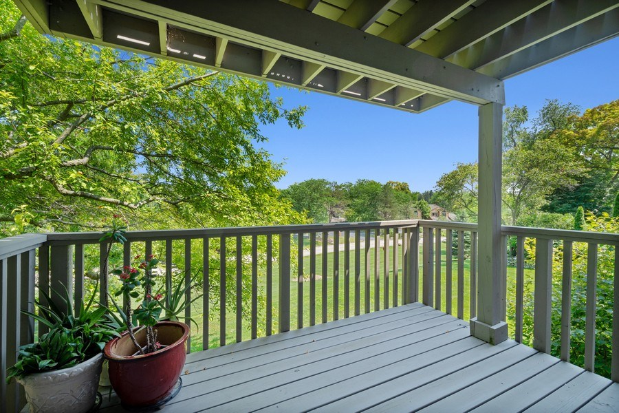 Real Estate Photography - 811 Shoreline Rd, Lake Barrington, IL, 60010 - Balcony