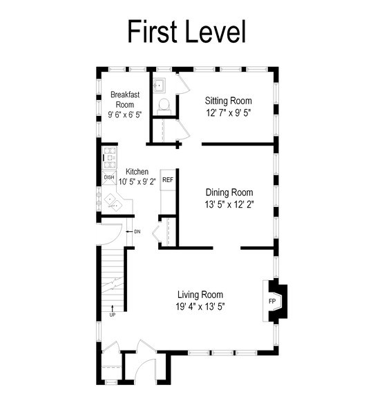 Real Estate Photography - 343 Bryant Ave, Glen Ellyn, IL, 60137 - Floor Plan